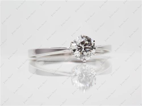 White Gold 0.72 Round cut Solitaire