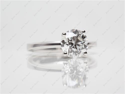 White Gold 1.50 Round cut Solitaire Engagement Ring