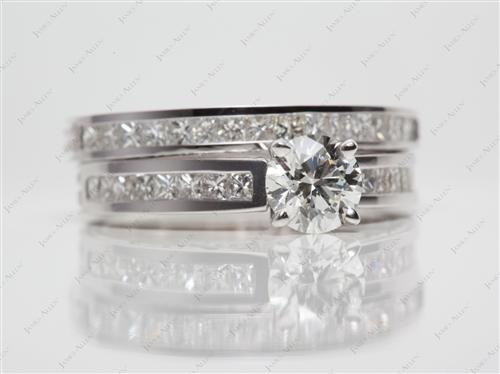 White Gold  Gold Wedding Ring Sets