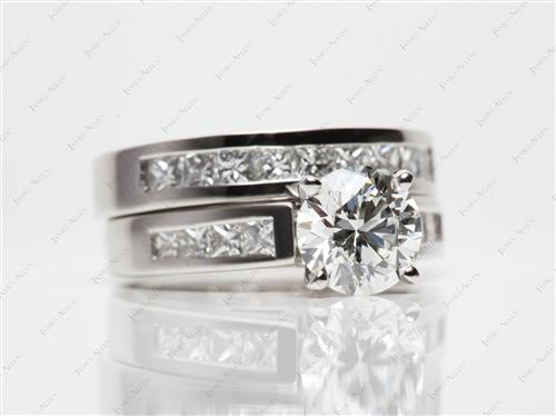 Platinum  Matching Wedding Sets