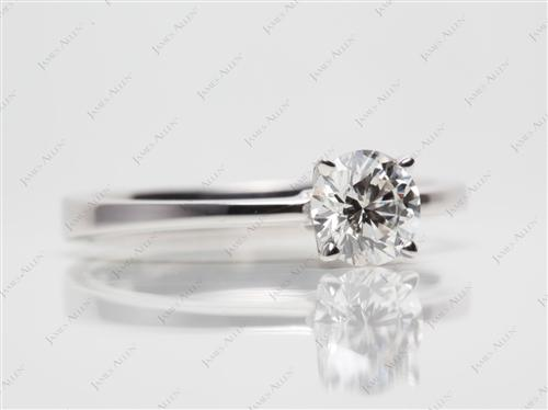 White Gold 0.80 Round cut Diamond Ring