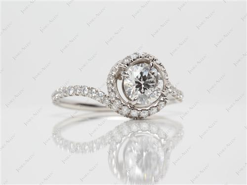 Platinum 0.70 Round cut Meno Engagement Rings