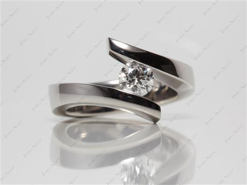 Platinum 0.54 Round cut Diamond Rings