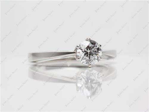 Platinum 0.68 Round cut Solitaire Ring Mountings