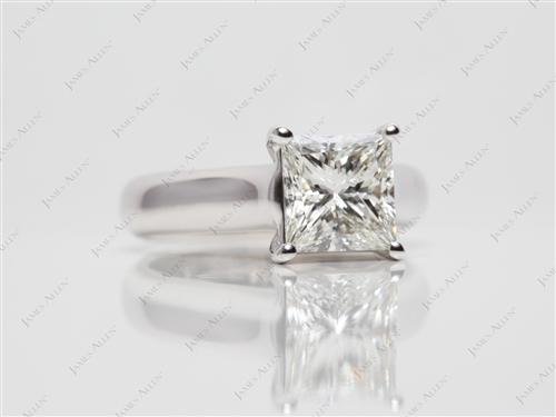 White Gold 1.52 Princess cut Solitaire