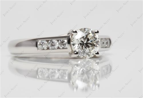 Platinum 0.90 Round cut Channel Set Diamond Band