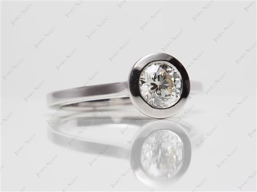 White Gold 0.75 Round cut Solitaire Ring Setting