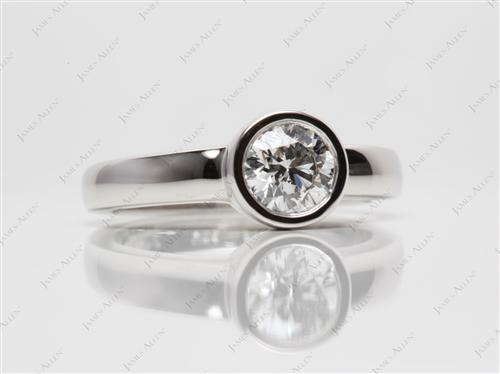 Platinum 0.80 Round cut Tension Set Engagement Rings