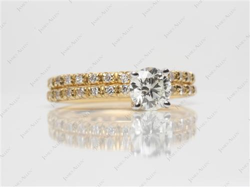 Gold 0.65 Round cut Wedding Sets Jewelry