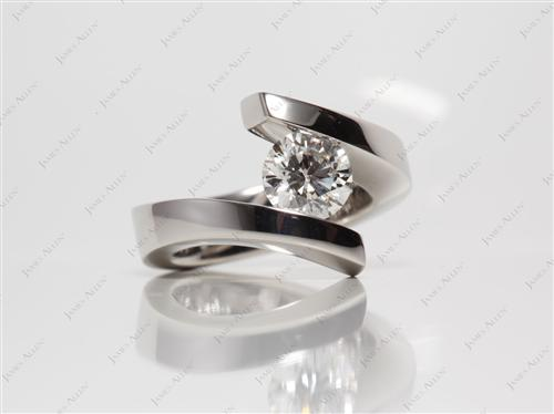 Platinum 1.09 Round cut Diamond Rings