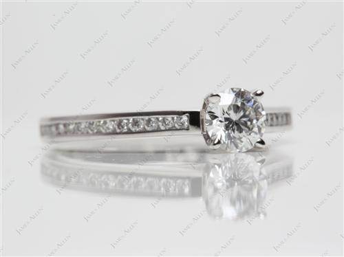 Platinum 0.58 Round cut Channel Set Rings