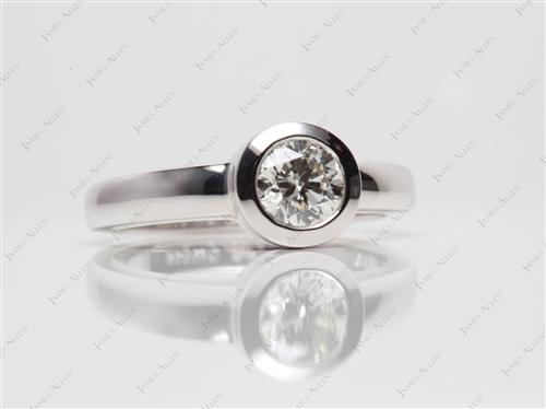 White Gold  Tension Set Rings