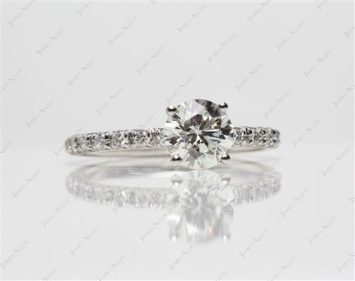 Platinum 1.07 Round cut Engagement Ring