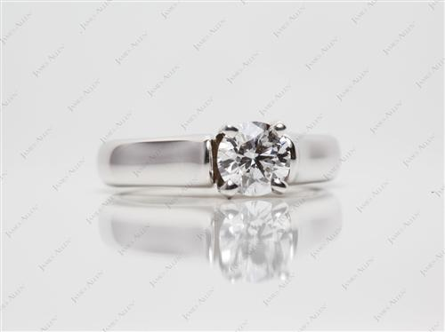 White Gold 0.57 Round cut Solitaire Ring Designs