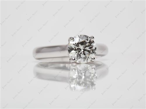 White Gold 1.51 Round cut Diamond Solitaire Engagement Ring