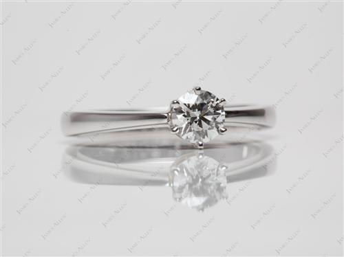 White Gold 0.43 Round cut Solitaire Ring Setting