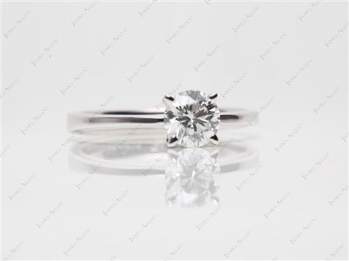 White Gold 0.80 Round cut Solitaire Ring Settings