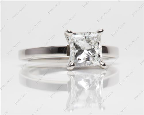 Platinum 1.70 Princess cut Solitaire Ring