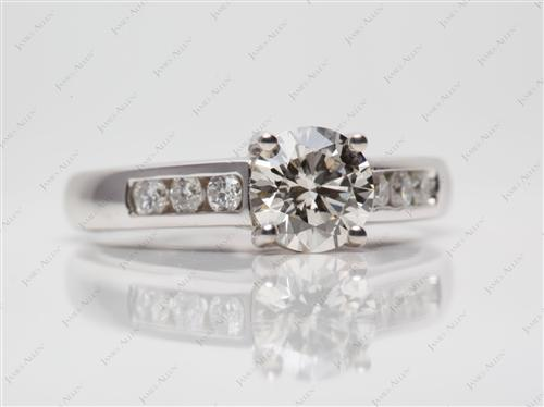 White Gold 1.02 Round cut Channel Set Diamond Rings