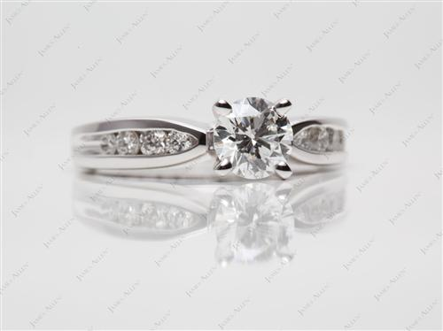 White Gold 0.71 Round cut Channel Set Diamonds