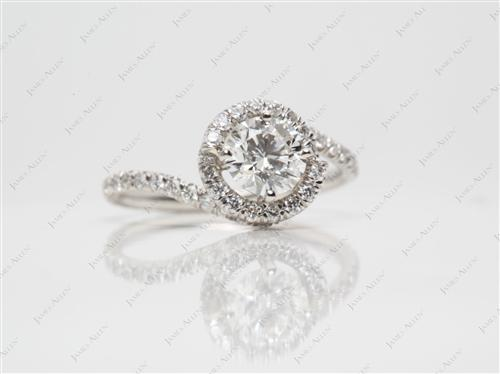 Platinum 0.70 Round cut Micropave Ring