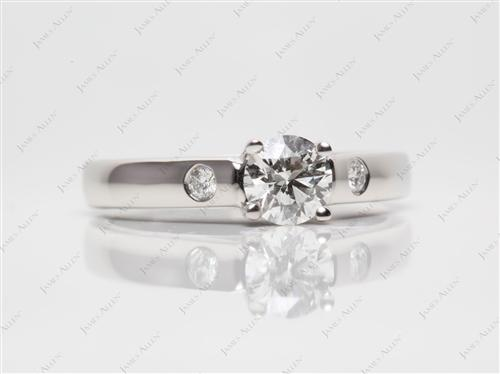 Platinum 0.59 Round cut Solitaire Ring Mountings