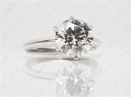 Platinum 2.66 Round cut Solitaire Ring