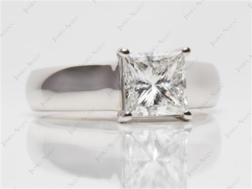 Platinum 1.51 Princess cut Solitaire Ring Designs