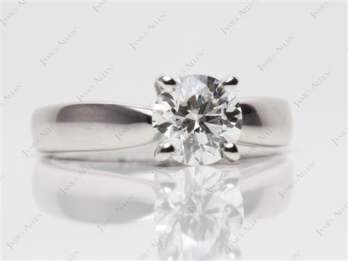 Platinum 1.21 Round cut Engagement Rings