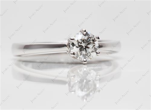 White Gold 0.42 Round cut Solitaire Ring Designs