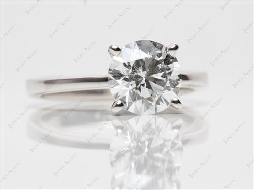 Platinum 2.09 Round cut Diamond Ring