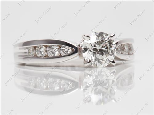 White Gold 0.68 Round cut Channel Set Diamond Band