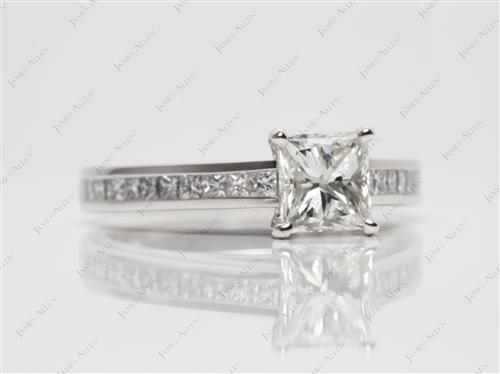 Platinum 1.01 Princess cut Channel Rings