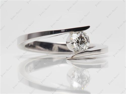 White Gold 0.41 Round cut Solitaire