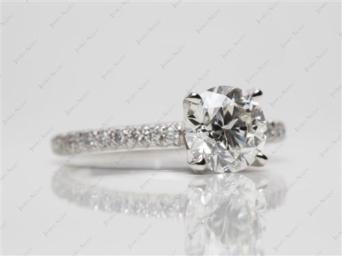 Platinum 1.52 Round cut Diamond Ring