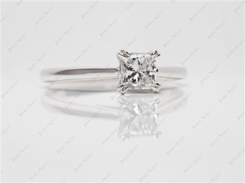 White Gold 0.60 Princess cut Solitaire