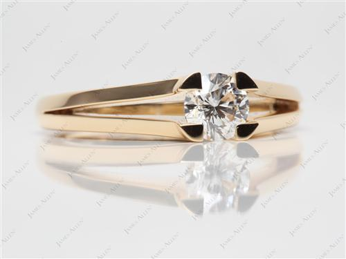 Gold  Tension Engagement Rings