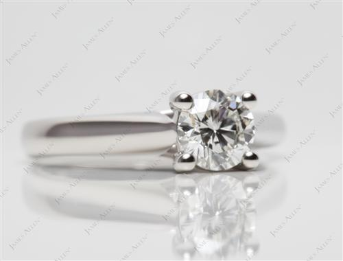 Platinum 0.69 Round cut Solitaire Engagement Rings