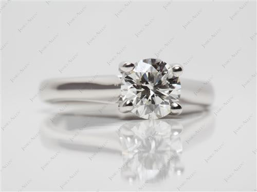 Platinum 1.01 Round cut Round Solitaire Ring