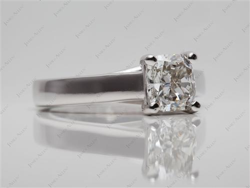 White Gold 1.73 Cushion cut Diamond Ring