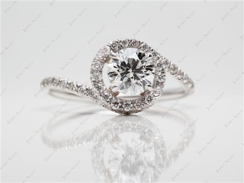 White Gold 0.75 Round cut Micropave