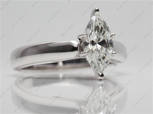 White Gold 1.06 Marquise cut Engagement Ring