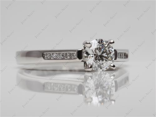 Platinum 0.73 Round cut Channel Cut Ring