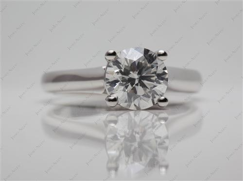 Platinum 1.52 Round cut Solitaire Engagement Rings