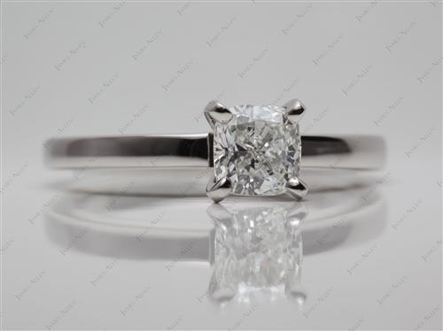 Platinum 1.08 Cushion cut Engagement Ring