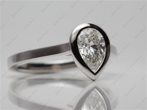 Platinum 1.04 Pear shaped Diamond Ring