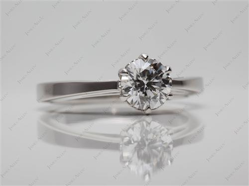 Platinum 0.72 Round cut Solitaire Ring Designs