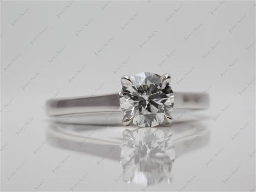 Platinum 0.76 Round cut Round Solitaire Ring