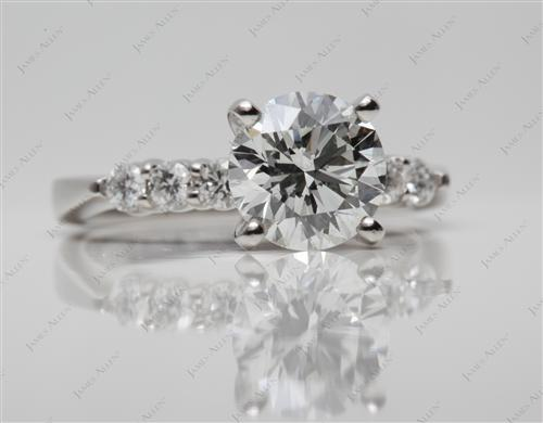 Platinum 2.20 Round cut Wedding Ring Sets