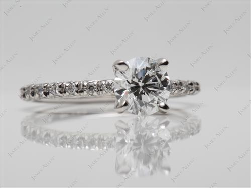 Platinum 0.83 Round cut Wedding And Engagement Ring Sets